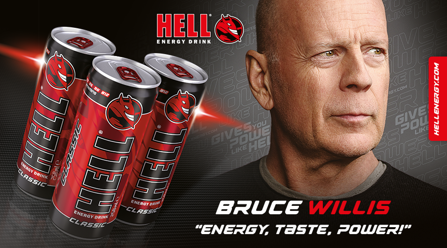 Hell Energy Drink - Bruce Willis, Energy, Taste, Power